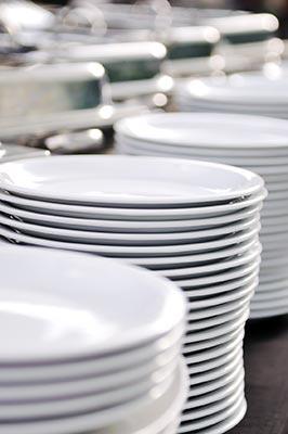 Mietservice für Geschirr
